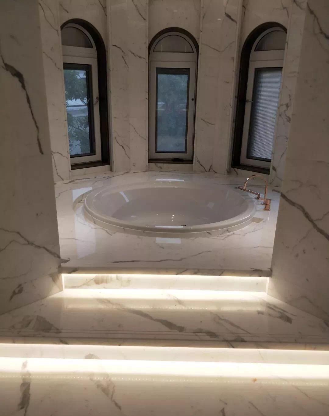 bianco calacatta white marble bathbut countertops tops tiles wall column tiles