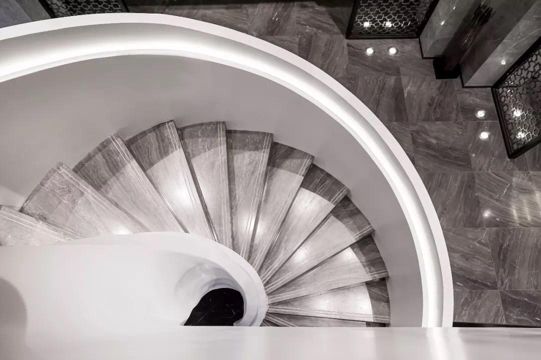 Grey Wooden Marble Step Stair Tiles