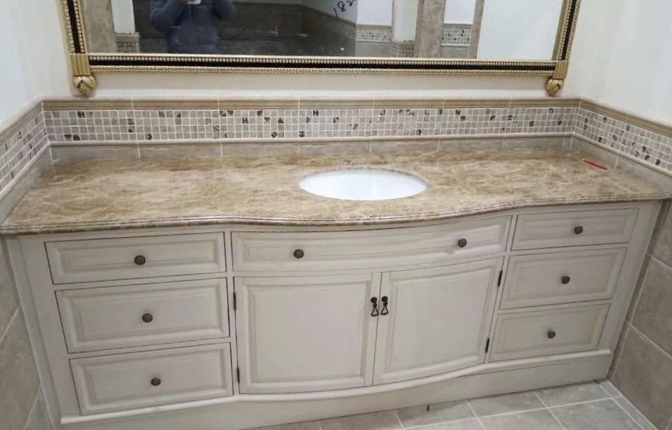 Crema Persia Royal Marble Bahtroom Vanity Tops
