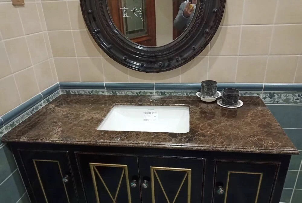 Mystic Brown Marble Bathroom Vanity Tops