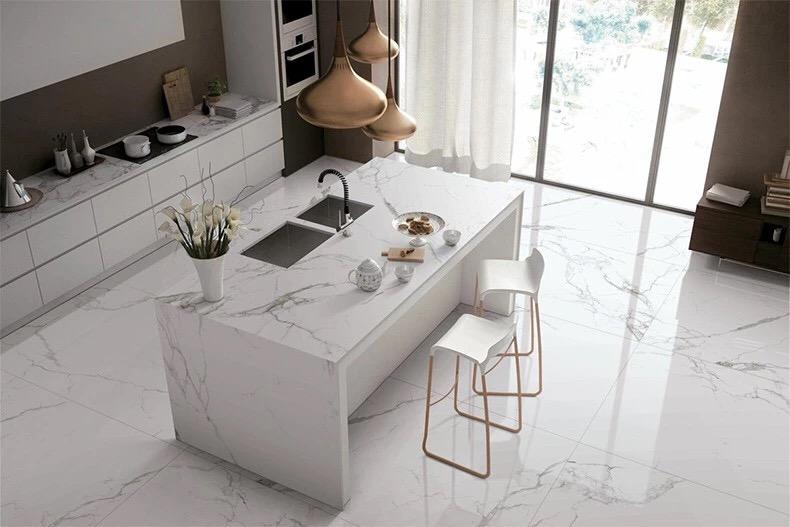 Pure white Marble Bathroom Vanity Tops