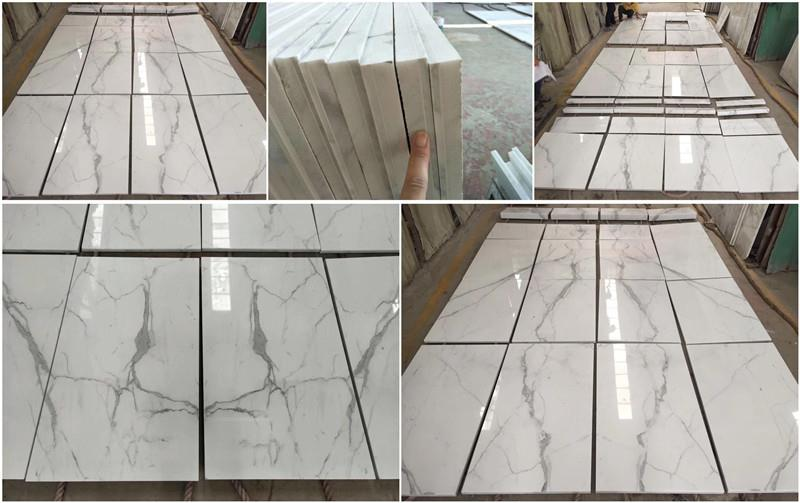 Statuario White Marble Tiles