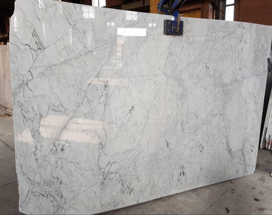Crystal White Polished Marble Slabs