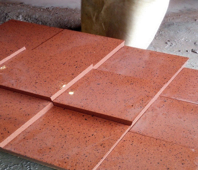 Red polished granite stone wall tiles and stone slabs