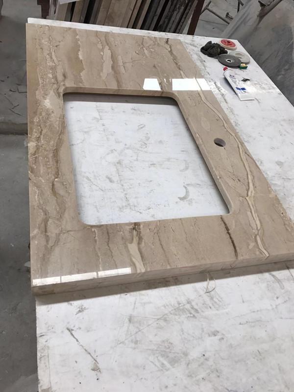 Beige marble vanity topBathroom Vanity top