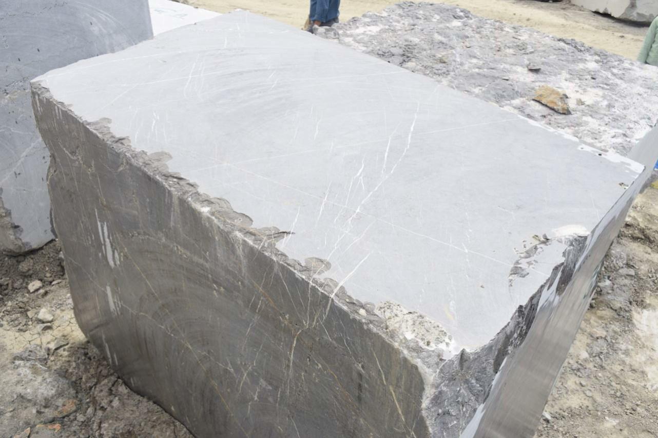 Petra Grey Marble Block