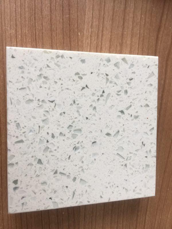Diamond white quartz stone slabs