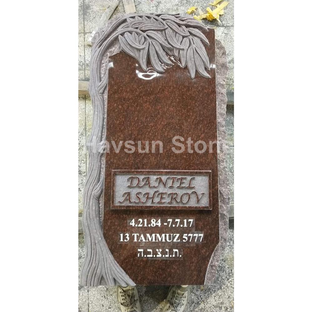 Cat Eye Brown Tree Headstone Tombstone Monuments