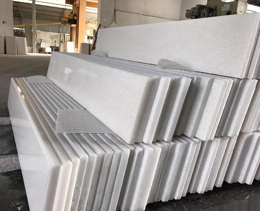 Pure White Vietnam White Marble Tiles