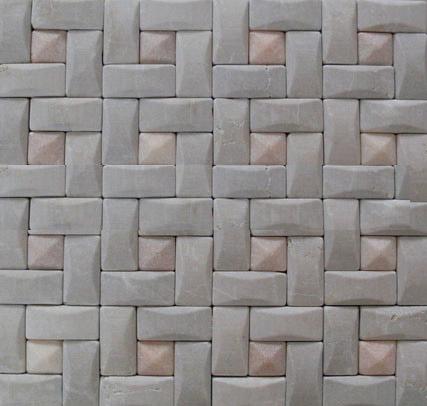 3D marble mosaic