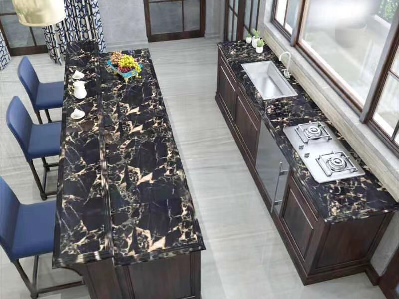 Portoro Gold marble tops Black marble table tops