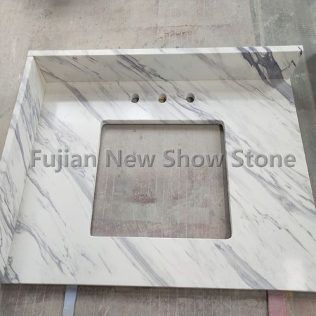 Artificial White marble countertop