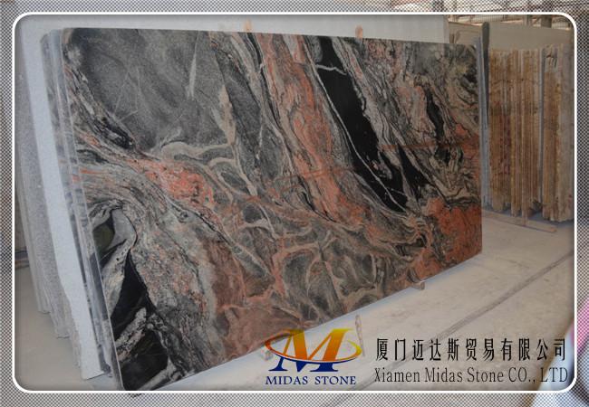 China Multicolor Red Granite Slabs