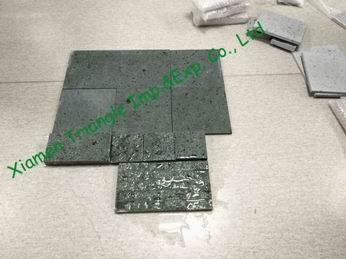 China New Sukabumi Green Stone Swimming Pool Tile