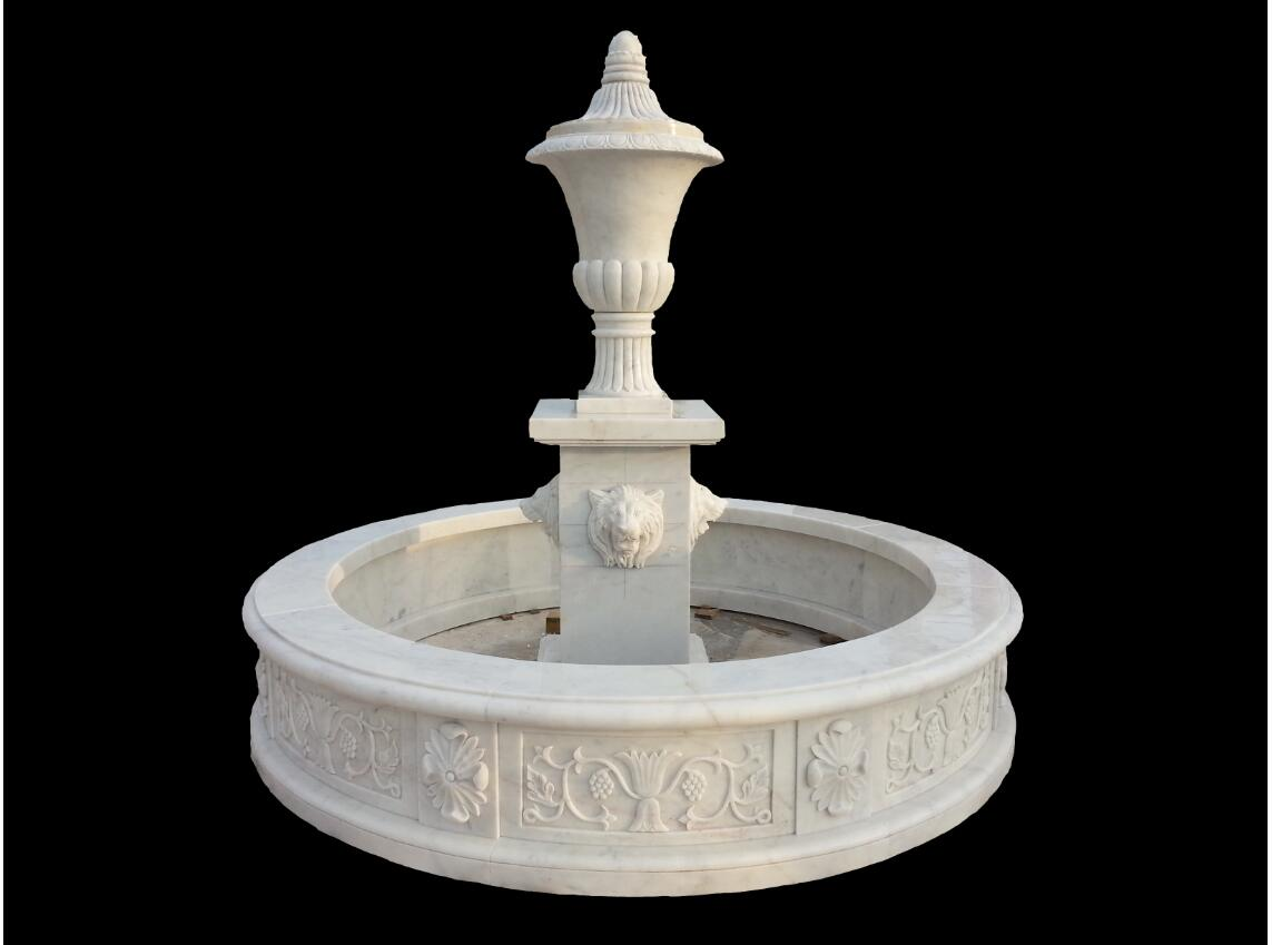 Carved Stone Garden Fountain Water Fountain