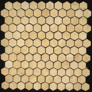 Yellow sandstone mosaic pattern