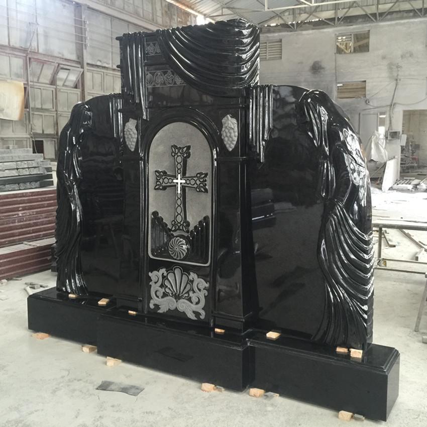 Black Color Russian Volgograd Tombstone Monument