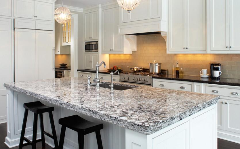 spray white granite for kitchen countertops