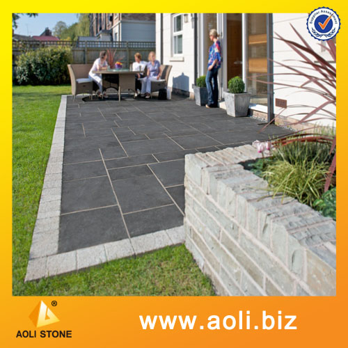 Blue limestone tile for paving stone