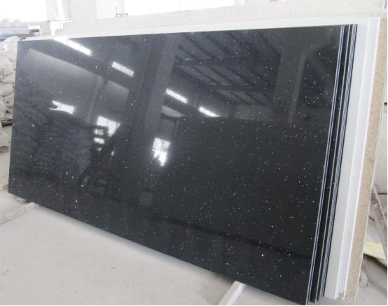 Galaxy Black Quartz Slab