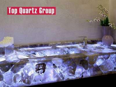 Luxurious toilet table top light purple transparent counter top