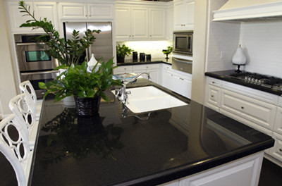 Jet Black Caesarstone 3100 quartz stone Artificial Quartz Stone Slabs