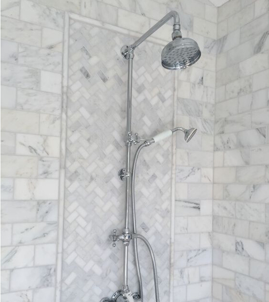 White marble mosaic for bathroom