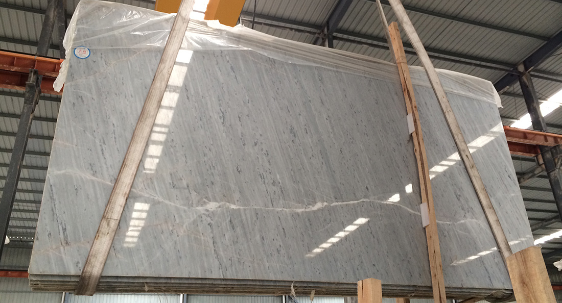 White Polaris Marble Slabs