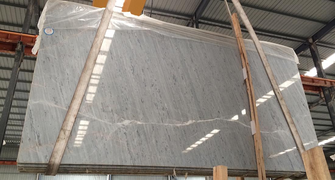 White Polaris Marble Slabs