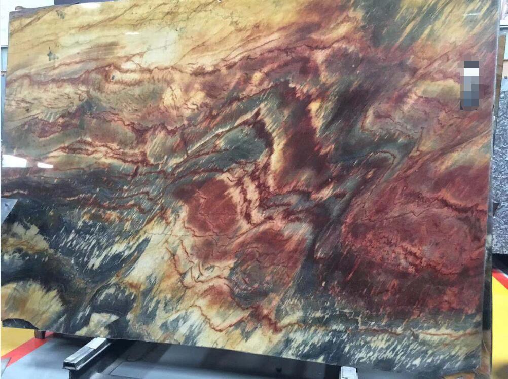 Flaming Phoenix Quartzite Slabs