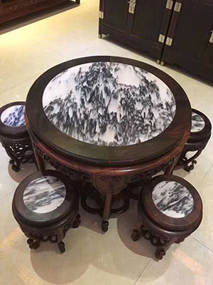 Italy Arabscato White Marble Round Table Tops