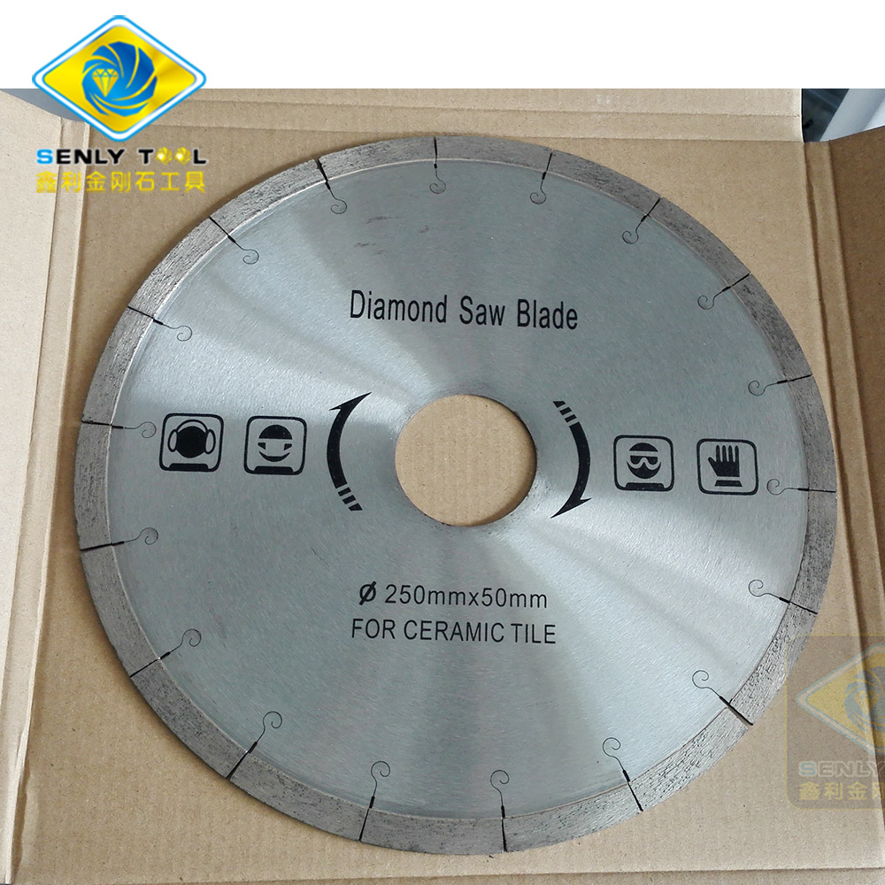 Diamond Saw Blade for Ceramic Porcelain Tiles Cutting Dia 250mm