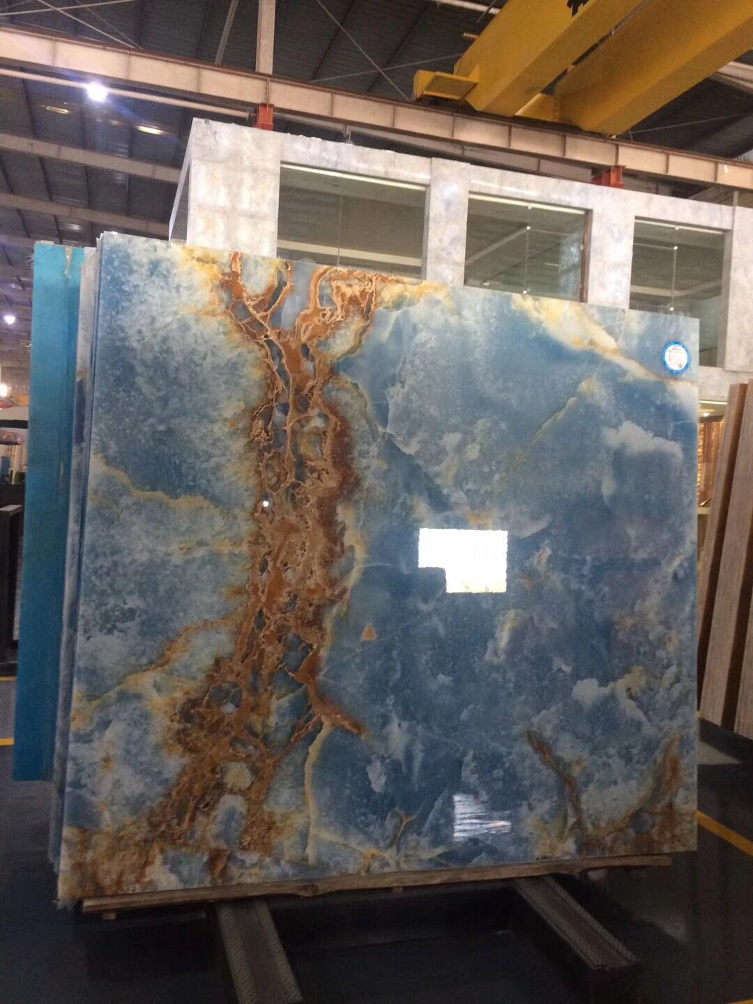 Ice Blue Onyx Slab