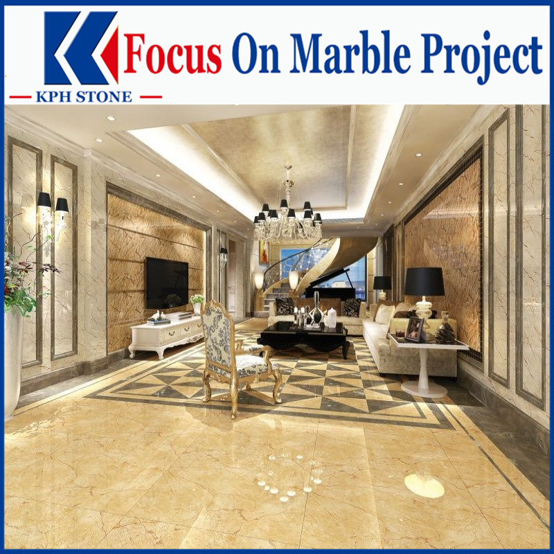 Golden Phoenix marble slab and tiles for Carlton Hotel Singapore