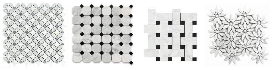 Chinese White Marble Mosaic