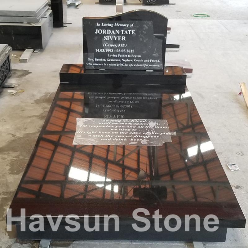 Black Memorial Tombstone Monument for Australia