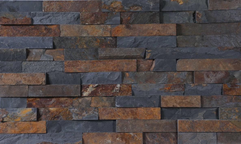 Black rusty slate culture stone panel