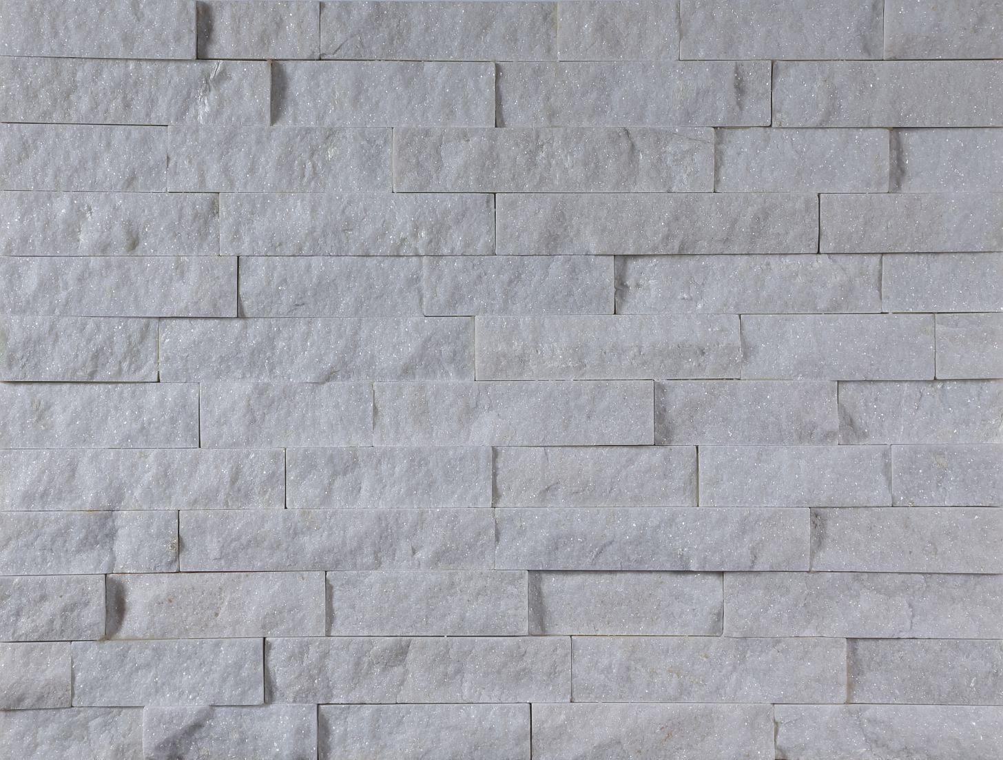 White quartz culture stone panel