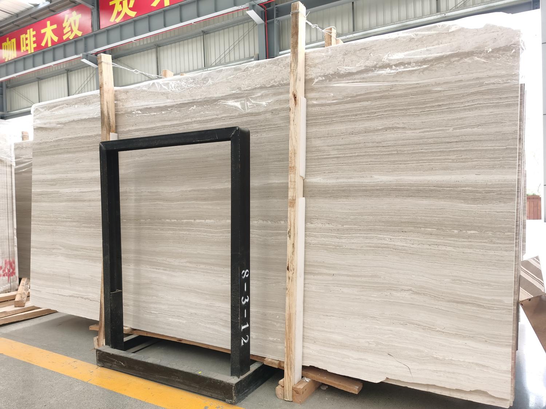 White Wooden marble slab