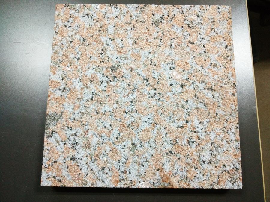 bush hammered red granite tile