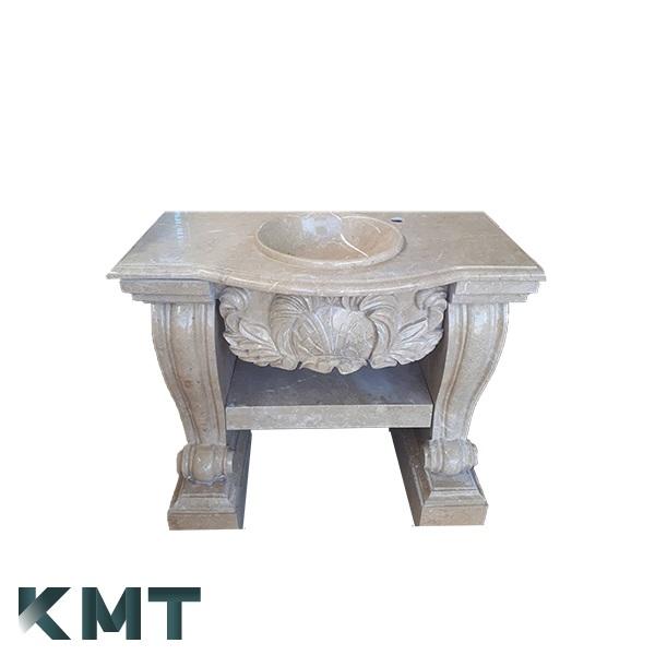 Royal Pedestal Sink  Stone Basin S-15001