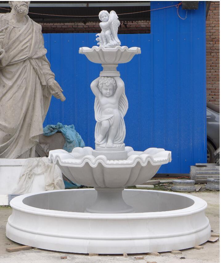 Marble sculpture water fountain garden fountain
