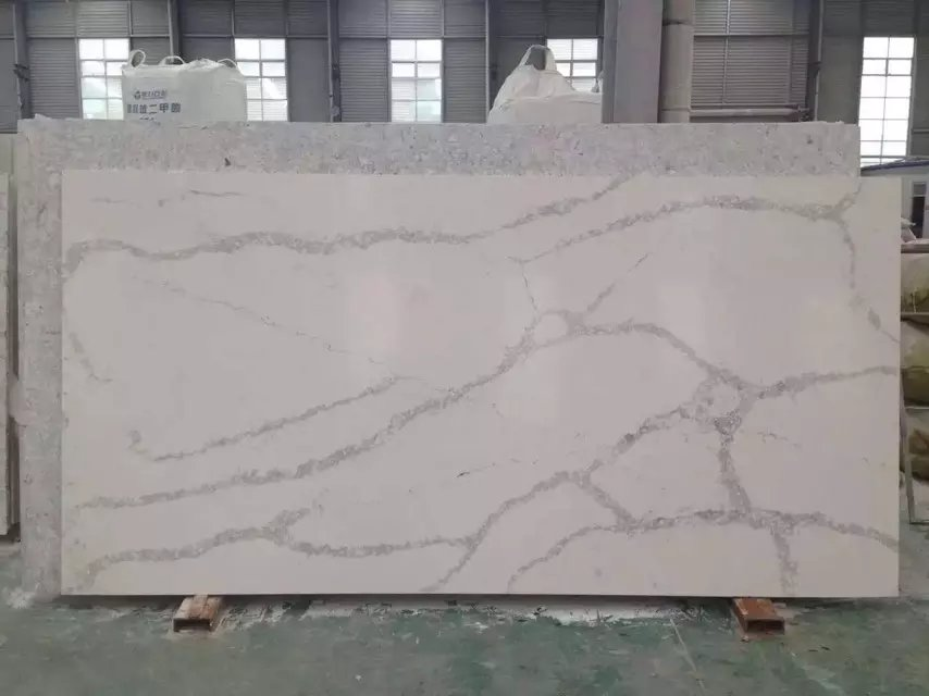Calacatta white quartz stone for kitchen coutertops