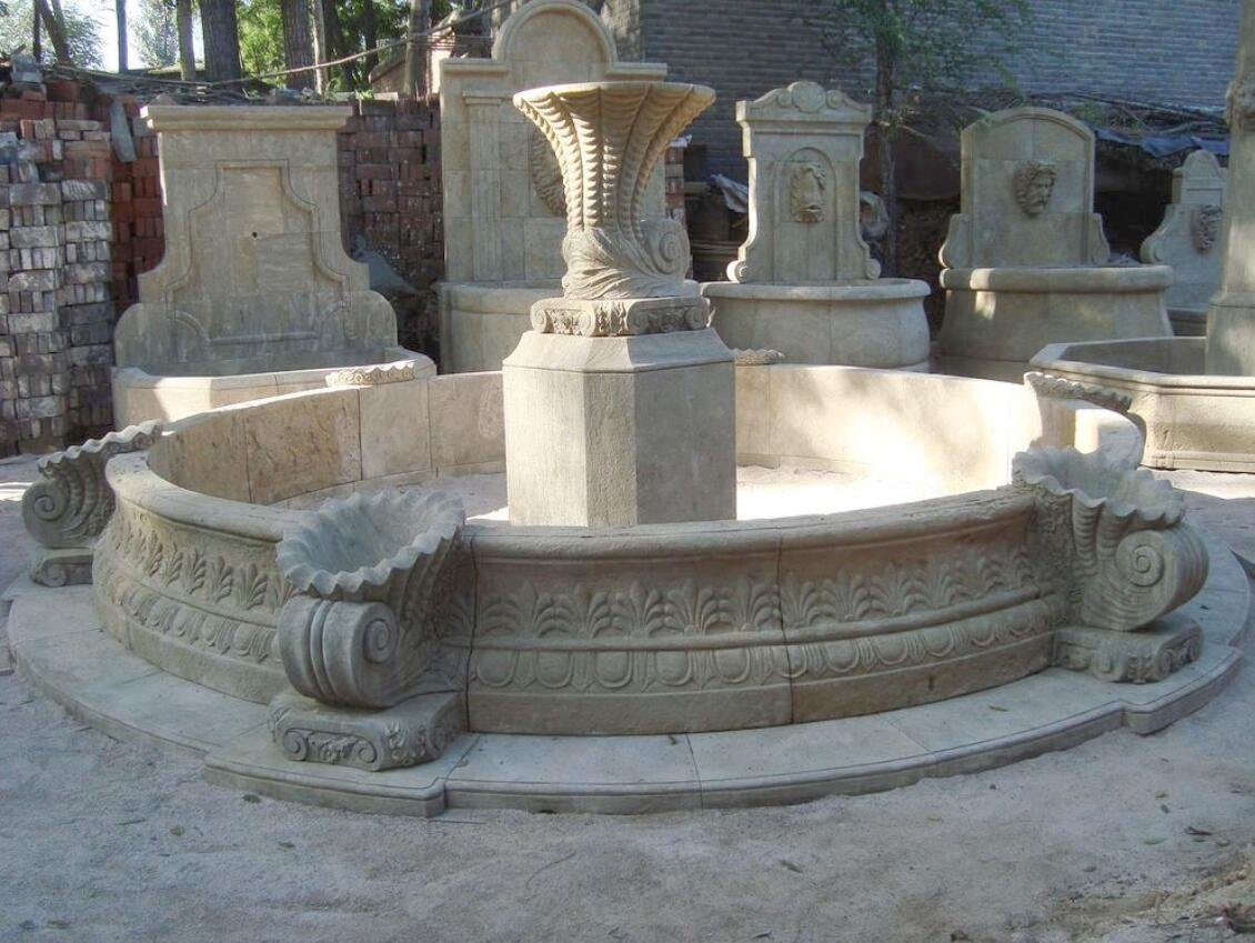 Antiqued Stone Landscaping Water Fountain