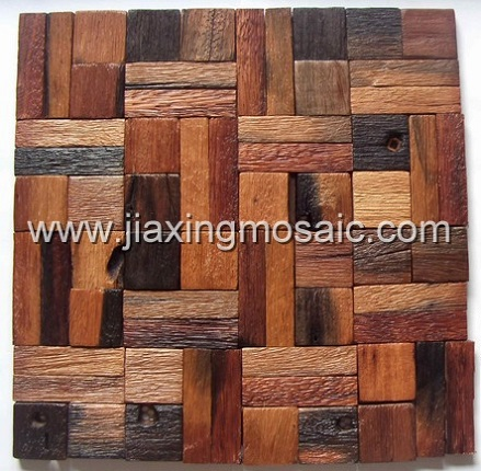 Old ship wood mosaic/Ancient boat wood mosaic/wood wall mosaic til