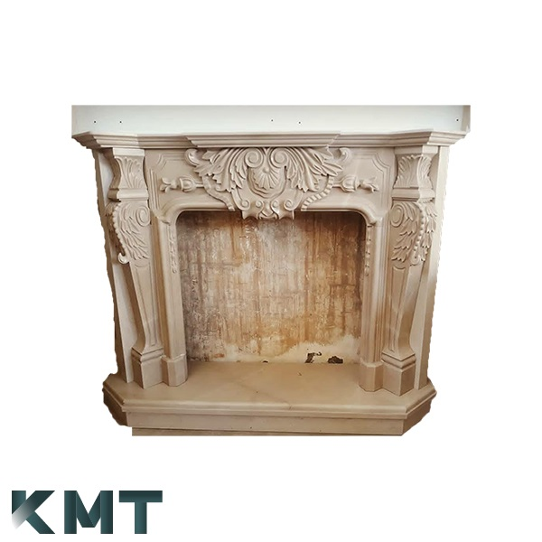 Hand Carved Marble Fireplace F-15002