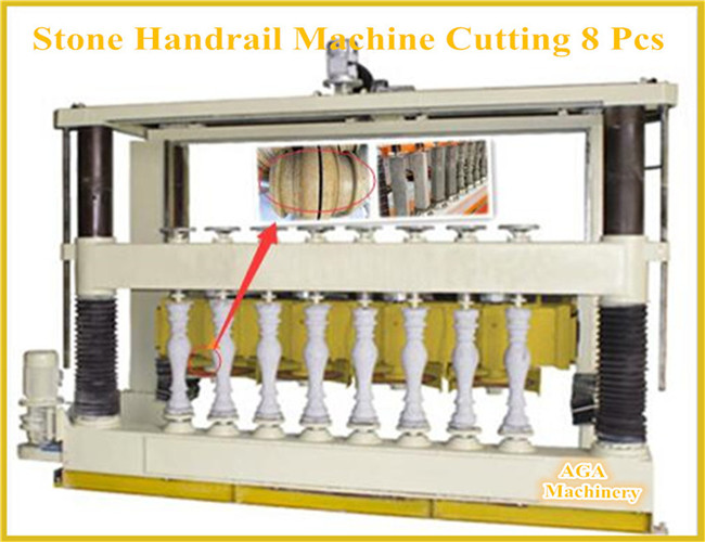 Automatic Stone Profiling Machine for Cutting Balustrade Handrail Column