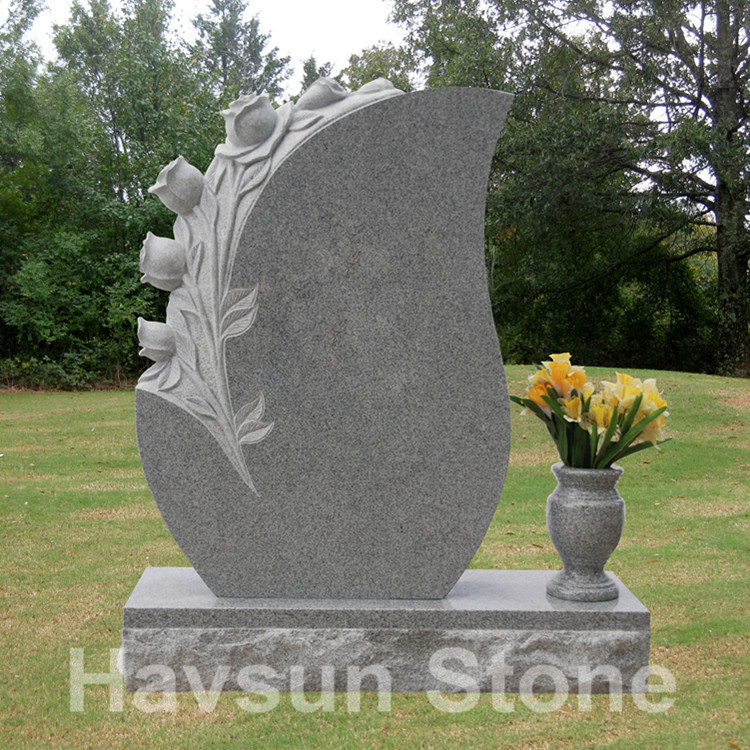 American Style Rose Headstone Monument Tombstone
