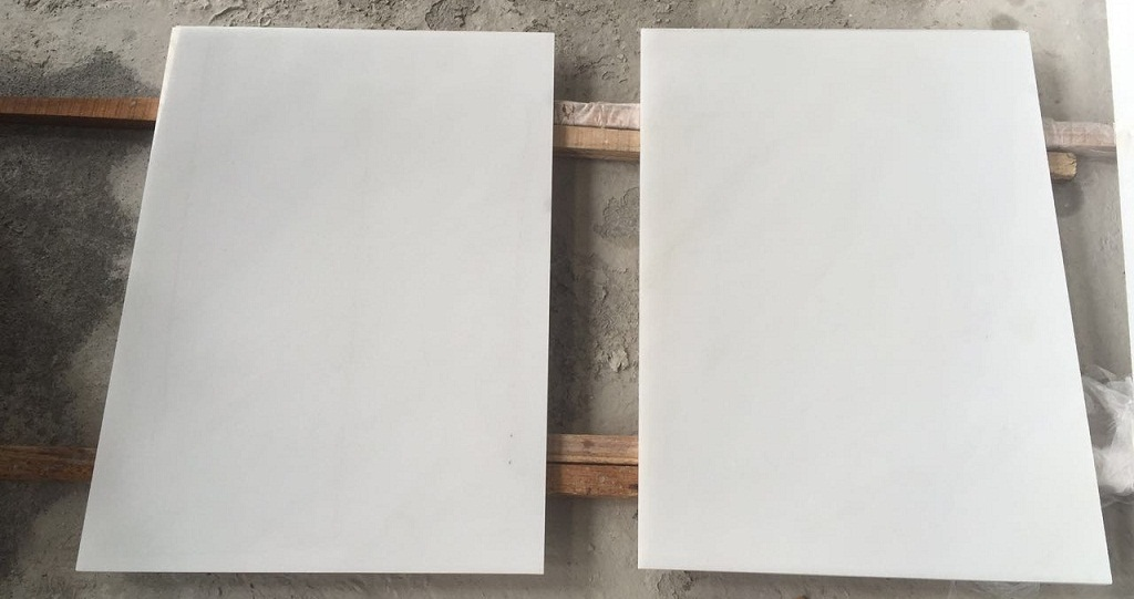 Chinese Hanbaiyu White Marble Tiles Polished