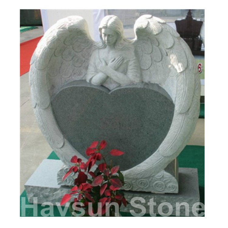 angel with heart tombstone monument headstone